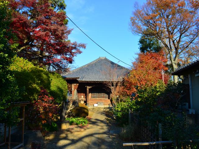 護国寺太子堂の紅葉