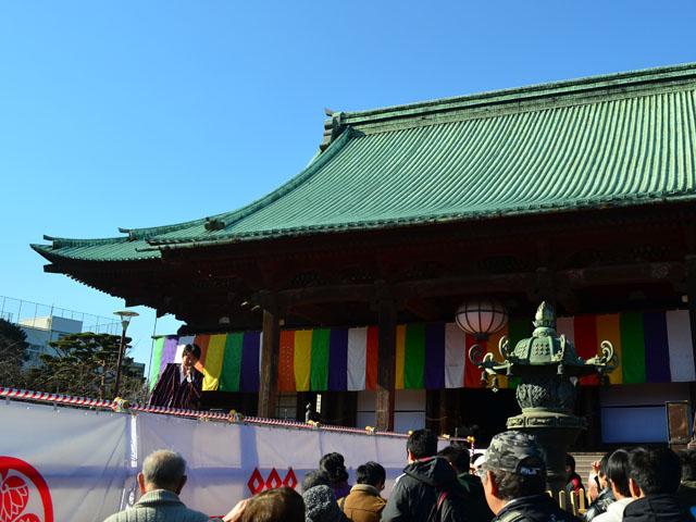 護国寺節分豆まき式2015