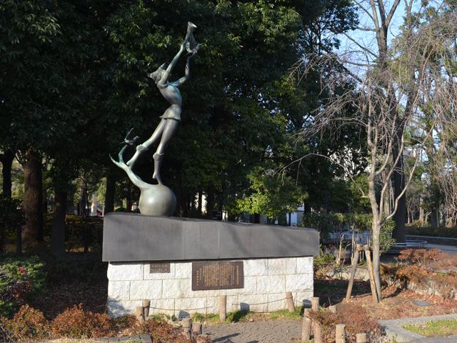教育の森公園に置かれている彫刻