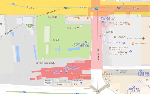 文京区礫川公園の地図・アクセス