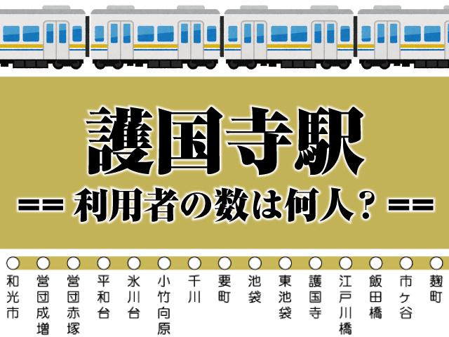 護国寺駅【東京メトロ】の一台あたりの利用者の数は何人?