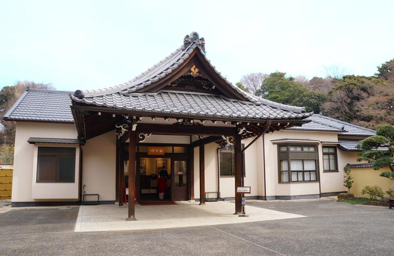 肥後細川庭園の松聲閣(しょうへいかく)
