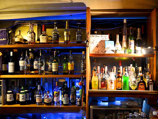 ▲Oh!Bar Driveバーカウンター