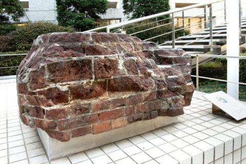 東京ドーム旧日本帝国陸軍東京砲兵工廠跡の基礎用レンガ